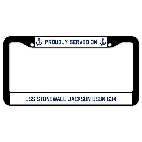 (Yohoba Proudly Served On USS Stonewall Jackson Ssbn 634 License Frame 12