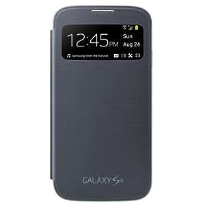Samsung Galaxy S4 S-View Flip Cover Folio Case (Black)