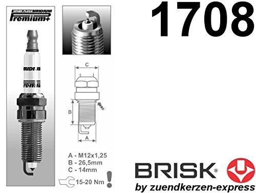 BRISK Iridium Premium Plus P11/1708/candele 4/pezzi