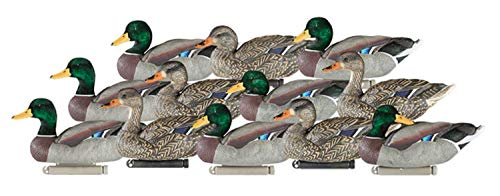 (Dakota Decoy X-Treme Flocked Drake Head Mallards (12 Pack)  12120)