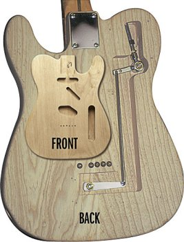 B Bender Guitar >> Amazon Com Tele Body Unfinished Alder Cut For B Bender Musical