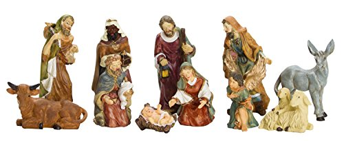 BRUBAKER Christmas Decoration Nativity Set - 3 Inch Nativity Set 11 Figurines in Real Life Nativity Set