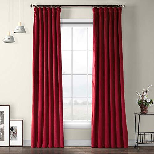 VPYC-179758-108 Heritage Plush Velvet Curtain, 50 x 108, Cinema Red ()