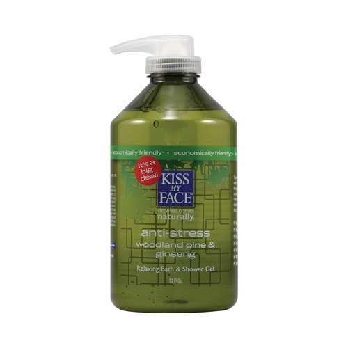 Kiss mon pin bois visage bain et douche Gel anti stress et Ginseng - 32 fl oz