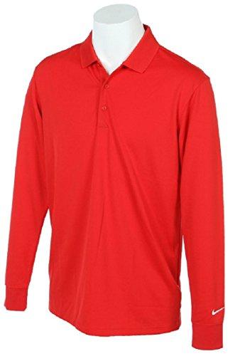 NIKE ナイキ DRI-FIT ビクトリー ゴルフウェア 長袖ポロシャツ Mサイズ(163-175cm) 国内正規品 725515 ユニバーシティレッド
