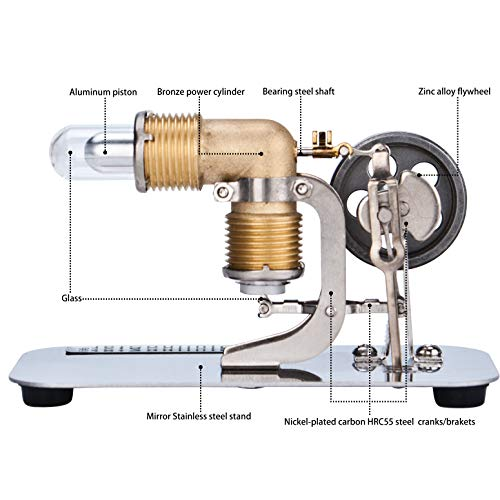 DjuiinoStar Mini Hot Air Stirling Engine: A High Performance Pocket-Sized Working Model by DjuiinoStar (Image #2)