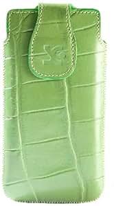 Suncase 41531902 - Funda de cuero para Motorola RAZR i, color verde con diseño de cocodrilo