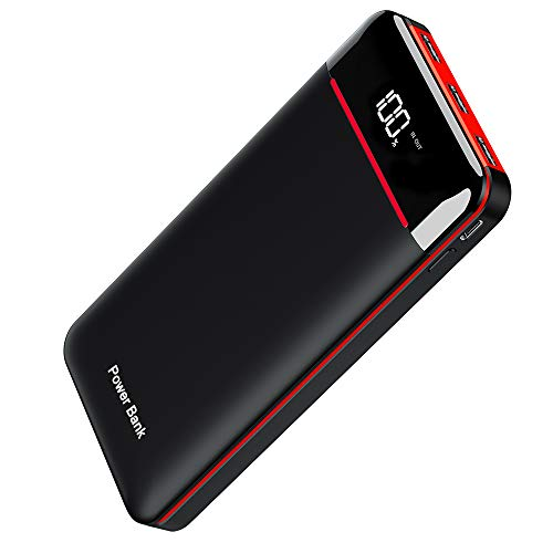Power Bank 25000mAh Portable Charger High Capacity with LCD Digital Display,3 USB Output  Dual Input External Battery Pack Compatible Smart Phones,Android Phones,Tablet and Other Devices in USA