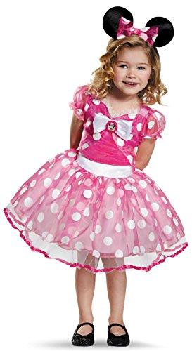 Disguise Pink Minnie Tutu Deluxe Costume, Medium (Halloween Costume 3t)