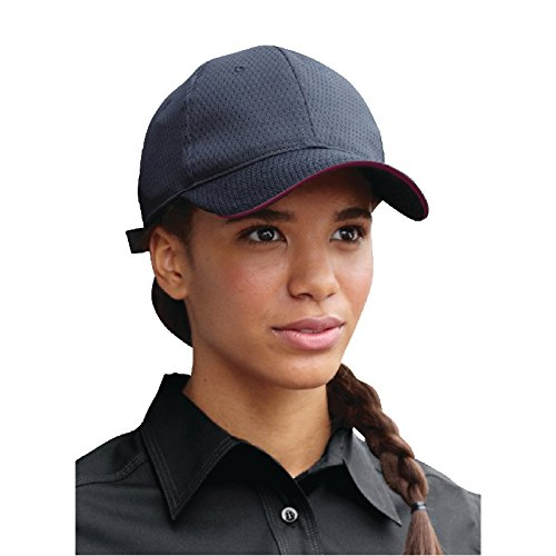 Merlot Trim Black Colour by Chef Works BCCT-MER-0 Cool Vent Baseball Cap One Size