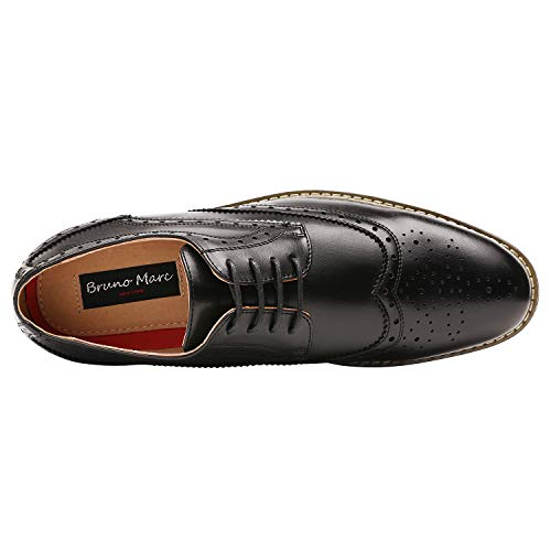 DREAM PAIRS Bruno Marc Moda Italy Men's Prince Classic Modern Formal Oxford Wingtip Lace Up Dress Shoes