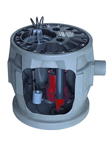 Liberty Pumps P382LE41V/A2-EYE 4/10 hp Pre-Assembled Simplex Sewage System with NightEye Technology, 10' Cord and 2'' Discharge by Liberty Pumps