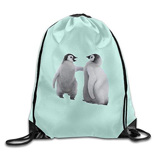 Training Gymsack Backpacks Penguin Twins Fashion Durable Polyester Drawstring Sports Fan Sackpacks For Shoes from KJHNIP
