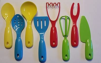 Buzy Beez 8 Piece Pretend Play Kitchen Utensils