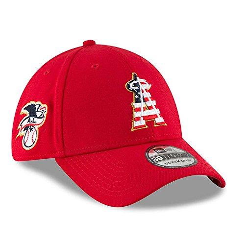 New Era Los Angeles Angels 2018 Stars & Stripes 4th of July 39THIRTY Flex Hat – Red (S/M)