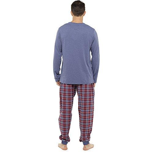 CityComfort Herren Pyjama (L, Blau)