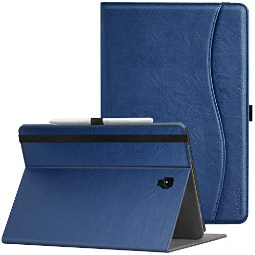 Ztotop Folio Case for Samsung Galaxy Tab S4 10.5 Inch 2018(SM-T830/T835/T837), Leather Folding Stand Cover with Auto Wake/Sleep,S Pen Holder and Multiple Viewing Angles,NavyBlue