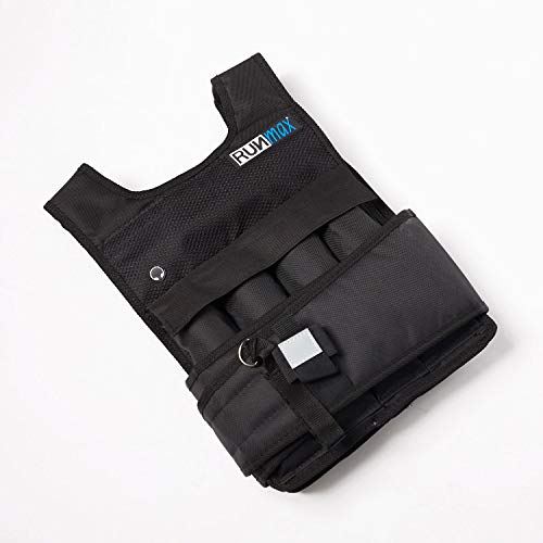 RUNmax RUNFast RM_20 Pro Weighted Vest, 20 lb. (Best Way To Build Chest Muscle Fast)