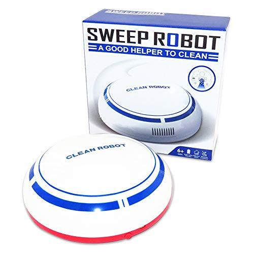 Aspiradora Robótica Limón, Inteligente con Sensor Aspira Polvo Pelusa cosas pequeñas Silencio sin Ruido Recargable apto para pisos, ricones, abajo de los muebles de la cas
