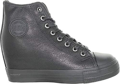Femme Star Big Sneakers Basses Noir g1HTHxwS