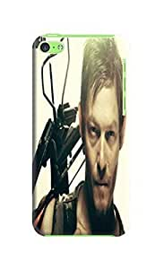 2014 hot new fantastic tpu phone case cover with texture for iphone 5c of The Walking Dead Daryl Dixon in Fashion E-Mall