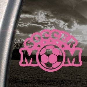 Avery Soccer Mom Pink Decal Truck Bumper Window Vinyl Pink Sticker