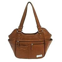 NC Star BWM002 Vism Concealed Carry Hobo Bag, Brown, Large