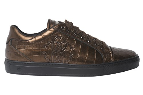 ROBERTO CAVALLI 06235 Italian Mens Cooper Crocodile Print Sneakers