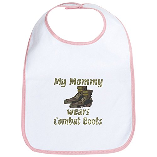 CafePress - My Mommy Wears Combat Boots Bib - Cute Cloth Baby Bib, Toddler Bib ()