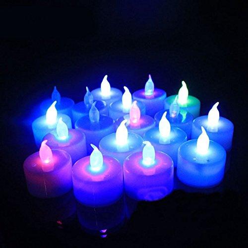 Zehui LED Electronic Candle Lamp Flameless Light Candle for Party Wedding Decor 6pcs Colorful