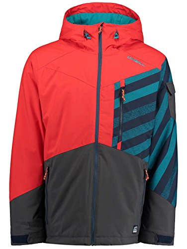 O Neill Cue Snowboard Jacket Large Fiery Red (Oneill Snowboard Jackets)