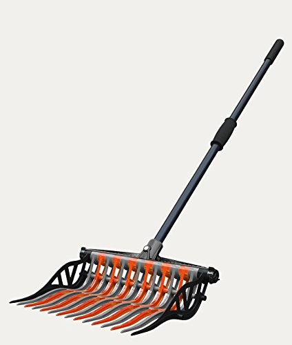 Noble Outfitters Wave Fork Pitchfork Manure Rake Heavy Duty Tines (Orange and Granite) by Noble Outfitters (Image #2)