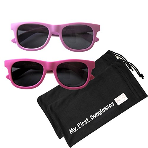 MFS - Wayfarer - 115mm - Magenta and Fuscia - 2 - Girl Sunglasses Toddler
