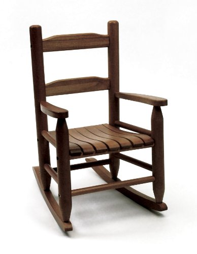 Lipper International 555WN Child's Rocking Chair, Walnut