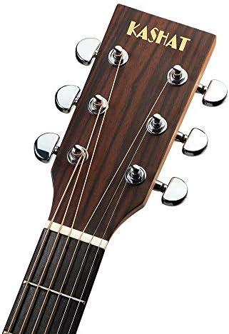 ギター フルサイズのアコースティックギター41インチソリッドウッドベニヤギター 初心者 入門 (Color : Natural, Size : 41 inches)