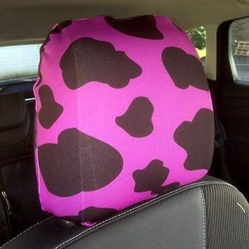 L/&S PRINTS FOAM DESIGNS Auto Sitz Kopfst/ützen Bezug 2/St/ück braun Totenkopf Design hergestellt in Yorkshire