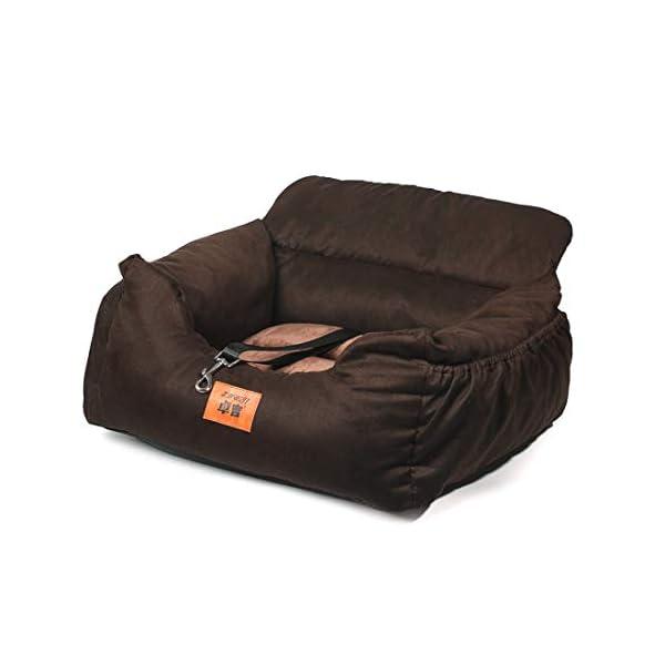 41PS6mY%2BnOL NIBESSER 2-in-1 Autositz und Bett für Hunde, wasserfest und rutschfest, Sitzerhöhung für Katzen, Abnehmbarer Bezug und…