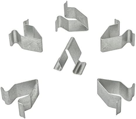 10x Metall Halterung Klammern Klemme Mutter Grau Cl 0385 Auto