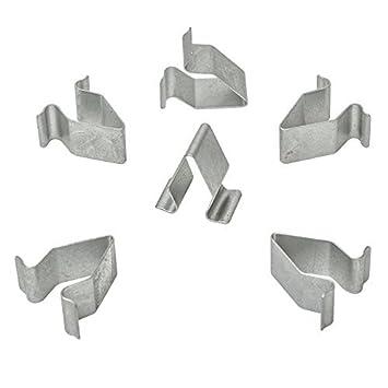 10 x metal soporte grapas abrazadera tuerca gris | cl de 0385: Amazon.es: Coche y moto