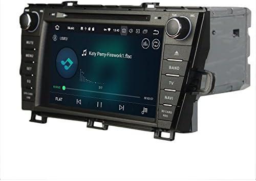 KUNFINE Android 9.0 8核自動車GPSナビゲーション マルチメディアプレーヤー 自動車音響 トヨタ TOYOTA PRIUS 2009 2010 2011 2012 2013 2014 left driving 自動車ラジオハンドル制御WiFiブルースティスト