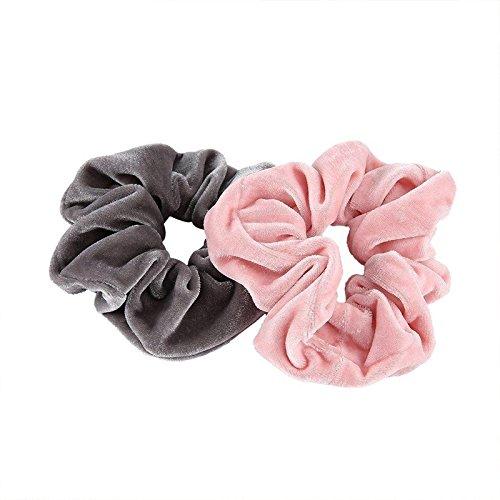 Outtybrave donne ragazze accessori per capelli in velluto capelli elastici Fermacoda 2PCS
