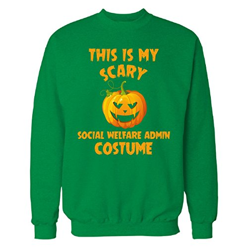 Welfare Mom Costume (This Is My Scary Social Welfare Admin Costume Halloween - Sweatshirt)