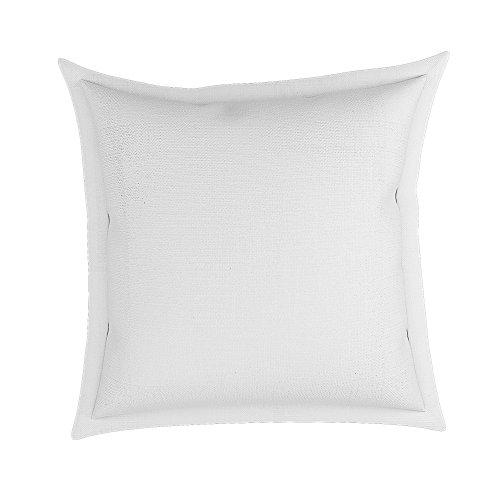"White 22"" x 22"" Cotton Decorative Flange Throw Pillow in Lon"