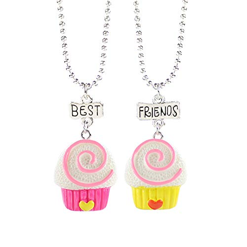 - HOUBL Cartoon Resin Donut Charm Pendant Necklace Choker Fashion Accessories Kid Birthday Gift