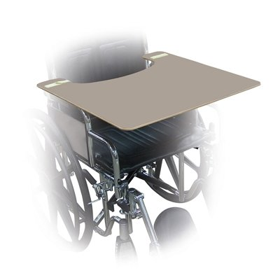 Wheelchair Trays - Gray Plastic - 24'' W X 20'' D X 1/2'' H - 1 Each/Each - 43-2293