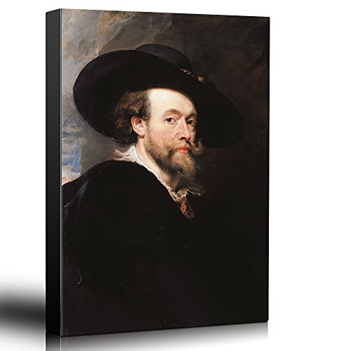 (wall26 - Oil Painting of Self Portrait by Peter Paul Rubens - Baroque Style - Catholic, Christianity, Religion, Religious - Canvas Art Home Decor - 24x36 inches)