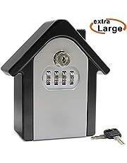Schlüsseltresor, Faneam Schlüsselsafe mit Zahlencode außen Groß Kapazität Safe für Schlüssel, Schlüsselbox Wandmontage für Aussen Innen Auto Garage Home Office Schlüssel und Zugangskarte