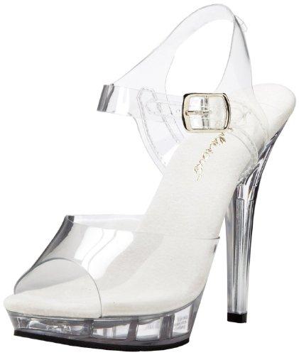 Pleaser Women's Lip-108,Clear,9 (Clear Platform Lip Shoes)