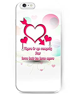 UKASE Cute Case for Apple iPhone 6 Plus (5.5inch) with Unique Design of There Is No Remedy For Love But To Love More