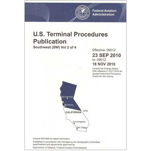 FAA IFR Terminal Procedures Bound Southwest (SW-2) Vol 2 of 4 (Always Current Edition) by FAA Charts